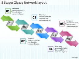 1013_business_ppt_diagram_5_stages_zigzag_network_layout_powerpoint_template_Slide01