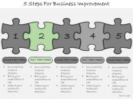 1013 Business Ppt Diagram 5 Steps For Business Improvement Powerpoint Template