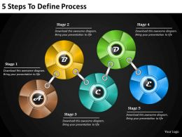 1013 Business Ppt diagram 5 Steps To Define Process Powerpoint Template