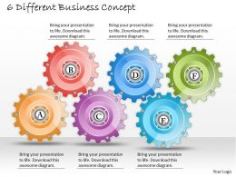 1013 Business Ppt diagram 6 Different Business Concept Powerpoint Template
