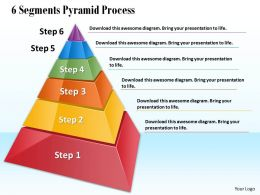 1013 Business Ppt diagram 6 Segments Pyramid Process Powerpoint Template