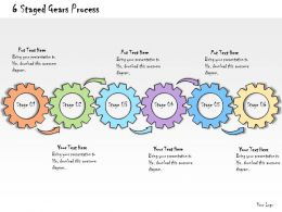 1013 Business Ppt Diagram 6 Staged Gears Process Powerpoint Template