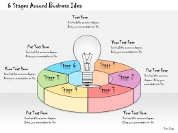 1013 Business Ppt Diagram 6 Stages Around Business Idea Powerpoint Template
