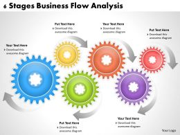 1013 Business Ppt diagram 6 Stages Business Flow Analysis Powerpoint Template