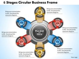 1013 Business Ppt diagram 6 Stages Circular Business Frame Powerpoint Template