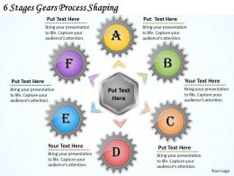1013 Business Ppt diagram 6 Stages Gears Process Shaping Powerpoint Template