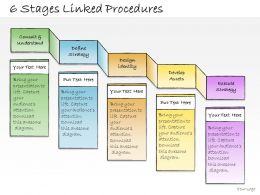 1013 Business Ppt Diagram 6 Stages Linked Procedures Powerpoint Template