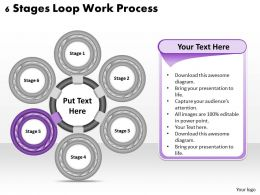 1013 Business Ppt diagram 6 Stages Loop Work Process Powerpoint Template
