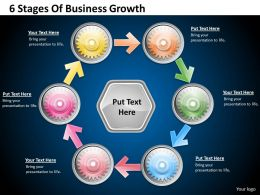 1013 Business Ppt diagram 6 Stages Of Business Growth Powerpoint Template