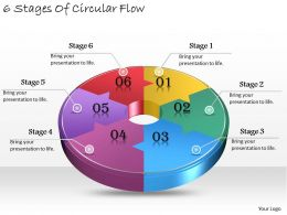 1013 Business Ppt diagram 6 Stages Of Circular Flow Powerpoint Template