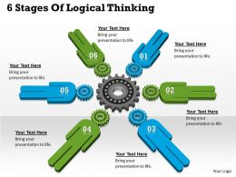 1013 Business Ppt diagram 6 Stages Of Logical Thinking Powerpoint Template