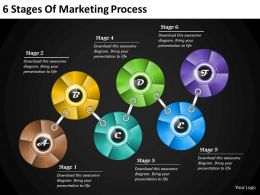 1013 Business Ppt diagram 6 Stages Of Marketing Process Powerpoint Template