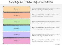 1013 Business Ppt Diagram 6 Stages Of Plan Implementation Powerpoint Template