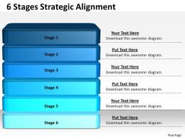 1013 Business Ppt diagram 6 Stages Strategic Alignment Powerpoint Template