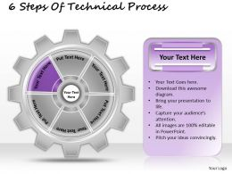 1013 Business Ppt diagram 6 Steps Of Technical Process Powerpoint Template