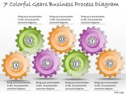 1013 Business Ppt diagram 7 Colorful Gears Business Process Diagram Powerpoint Template