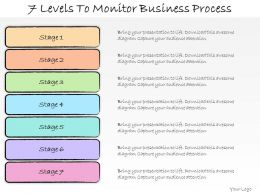 1013 Business Ppt Diagram 7 Levels To Monitor Business Process Powerpoint Template