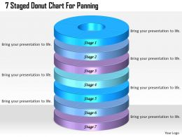 1013 Business Ppt diagram 7 Staged Donut Chart For Panning Powerpoint Template