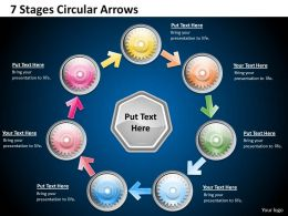 1013 Business Ppt diagram 7 Stages Circular Arrows Powerpoint Template