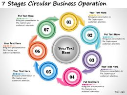 1013 Business Ppt diagram 7 Stages Circular Business Operation Powerpoint Template