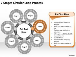 1013 Business Ppt diagram 7 Stages Circular Loop Process Powerpoint Template