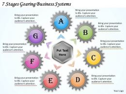 1013 Business Ppt diagram 7 Stages Gearing Business Systems Powerpoint Template