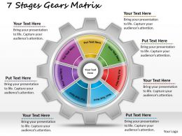1013 Business Ppt diagram 7 Stages Gears Matrix Powerpoint Template