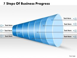 1013 Business Ppt diagram 7 Steps Of Business Progress Powerpoint Template