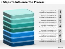 1013 Business Ppt diagram 7 Steps To Influence The Process Powerpoint Template