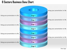 1013 Business Ppt diagram 8 Sectors Business Donut Chart Powerpoint Template