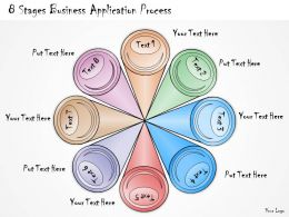 1013 Business Ppt Diagram 8 Stages Business Application Process Powerpoint Template