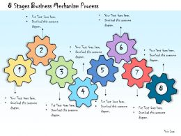 1013 Business Ppt Diagram 8 Stages Business Mechanism Process Powerpoint Template