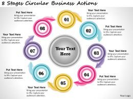 1013 Business Ppt diagram 8 Stages Cicular Business Actions Powerpoint Template