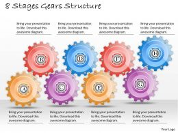 1013 Business Ppt diagram 8 Stages Gears Structure Powerpoint Template