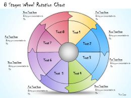 1013 Business Ppt Diagram 8 Stages Wheel Rotation Chart Powerpoint Template