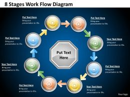 1013 Business Ppt diagram 8 Stages Work Flow Diagram Powerpoint Template