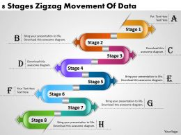1013 Business Ppt diagram 8 Stages Zigzag Movement Of Data Powerpoint Template