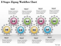 1013 Business Ppt diagram 8 Stages Zigzag WorKflow Chart Powerpoint Template