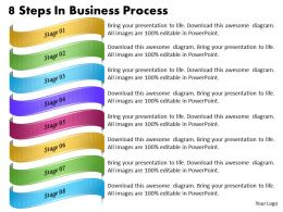1013 Business Ppt diagram 8 Steps In Business Process Powerpoint Template