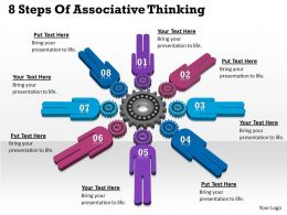 1013 Business Ppt diagram 8 Steps Of Associative Thinking Powerpoint Template