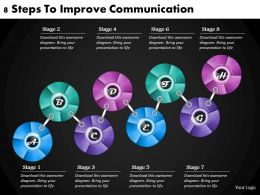 1013 Business Ppt diagram 8 Steps To Improve Communication Powerpoint Template