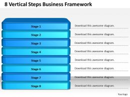 1013 Business Ppt diagram 8 Vertical Steps Business Framework Powerpoint Template
