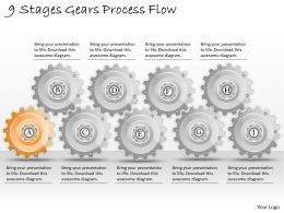 1013 Business Ppt diagram 9 Stages Gears Process Flow Powerpoint Template