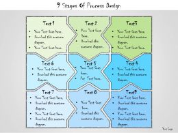 1013 Business Ppt Diagram 9 Stages Of Process Design Powerpoint Template