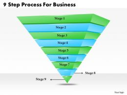 1013 Business Ppt diagram 9 Step Process For Business Powerpoint Template