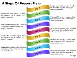 1013 Business Ppt diagram 9 Steps Of Process Flow Powerpoint Template