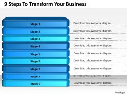 1013 Business Ppt diagram 9 Steps To Transform Your Business Powerpoint Template