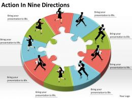 1013 Business Ppt diagram Action In Nine Directions Powerpoint Template