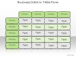 1013 Business Ppt Diagram Business Data In Table Form Powerpoint Template