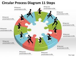 1013 Business Ppt diagram Circular Process Diagram 11 Steps Powerpoint Template